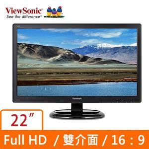 ★綠G能★全新★ViewSonic 優派VA2265S 22型VA寬螢幕護眼零閃屏/抗藍光 預購