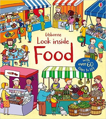 英國 Usborne 翻翻書 look inside Food 認識食物 *夏日微風*