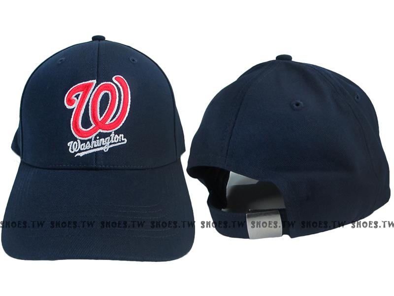 Shoestw【5032064-580】MLB 棒球帽 調整帽 老帽 國民隊 深藍 凸繡