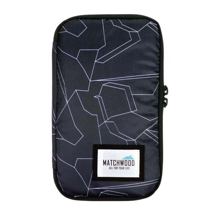 REMATCH - Matchwood Universal 護照包 黑色幾何迷彩款 護照夾 長夾 機票證件收納包 Herschel / Supreme / HEADPORTER 可參考
