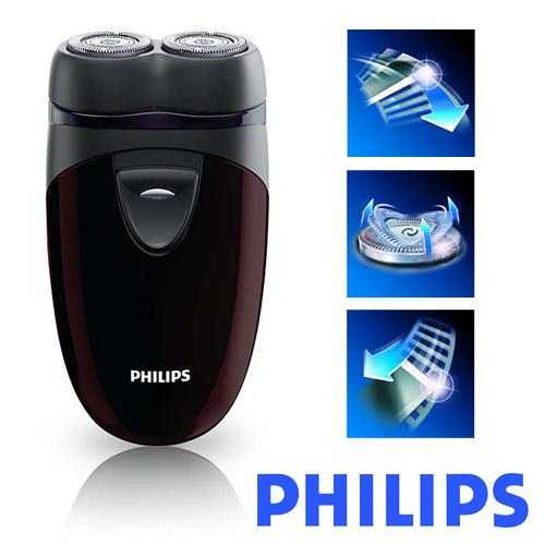 PHILIPS飛利浦 勁型系列雙頭輕巧電鬍刀/刮鬍刀PQ206