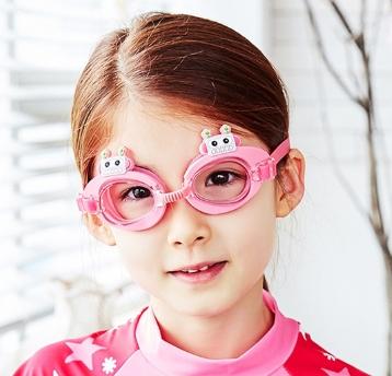 Lemonkid◆可愛機器人卡通造型兒童泳鏡防水護目鏡-粉色