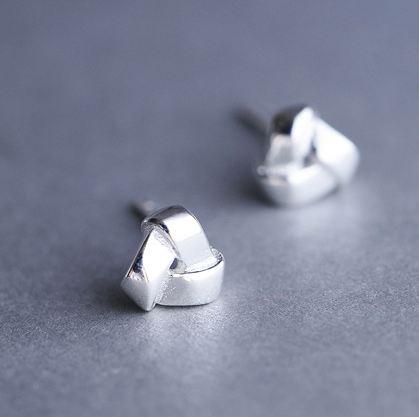 Tokyo Alice 925 純銀雲端硬碟造型耳環,純銀飾品首飾耳飾貼耳針飾品(se0000079)