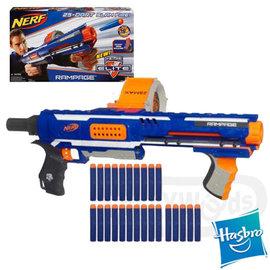 【Playwoods】《NERF樂活打擊》[N-STRIKE ELITE]迅火連發機關槍RAMPAGE-進階系列(孩之寶-Elite系列子彈-長射程)