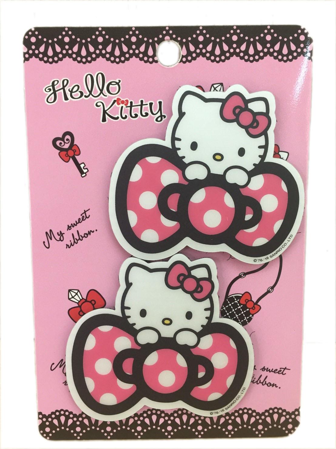 【真愛日本】16080300021瀏海貼-KT蝴蝶結粉   三麗鷗 Hello Kitty 凱蒂貓 髮飾 飾品 正品