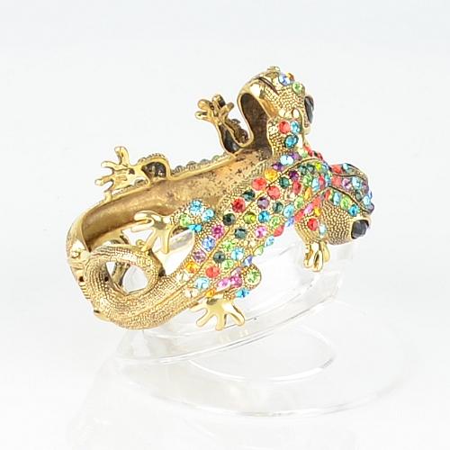 【Barocco Nuts】[手環]派對系列:華麗彩金 雙蜥報喜-夾式手鐲 首飾/手飾(PARTY飾品/潮流/女王款)