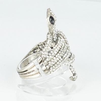 【Barocco Nuts】[手環]派對系列:白晶古銀 音韻舞蛇-夾式手鐲 首飾/手飾(PARTY女王嚴選/時尚/潮流)