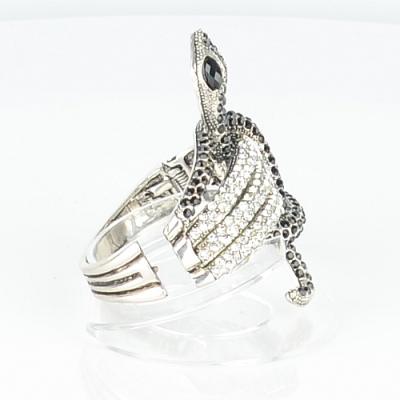 【Barocco Nuts】[手環]派對系列:黑白古銀 音韻舞蛇-夾式手鐲 首飾/手飾(PARTY女王嚴選/時尚/潮流)