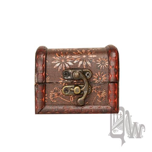 【Barocco Nuts】[首飾盒]藏寶盒:小盒-心花朵朵-紅色描邊線條(神鬼奇航-化粧盒/化妝箱-珠寶盒)
