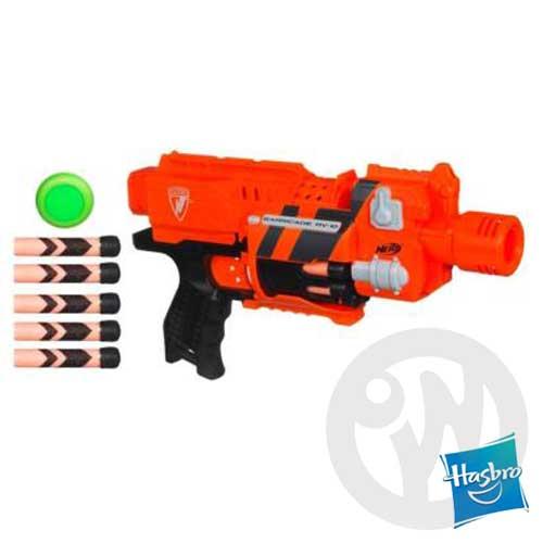 【Playwoods】《NERF樂活打擊》[BARRICADE RV-10]重裝版Gear Up守護者-全自動衝鋒槍(可與N-STRIKE系列連接)(MIB星際戰警3)