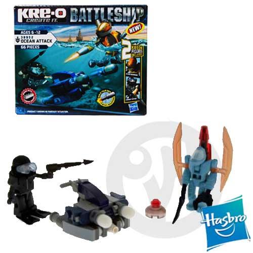 【Playwoods】[超級戰艦Battleship]KRE-O樂高LEGO型積木組:海戰基本人物組Ocean Attack(63片積木/含2個角色)現貨