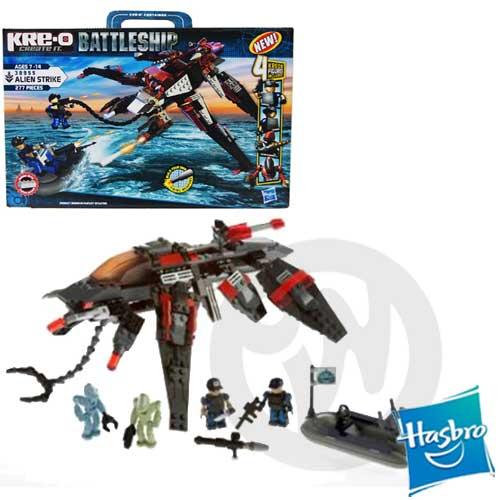【Playwoods】[超級戰艦Battleship]KRE-O樂高LEGO型積木組:外星戰艦戰爭組Alien Strike(277片積木/含4個角色)