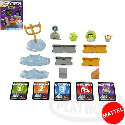 【Playwoods】[美泰兒MATTEL]憤怒鳥桌遊:憤怒鳥太空遊戲組2 Angry Birds Space Game(宇宙/搗蛋豬/星際大戰/憤怒的小鳥/益智遊戲/抽卡組合/APP)