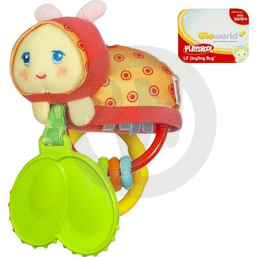 【Playwoods】[孩之寶-PLAYSKOOL-兒樂寶] 小瓢蟲吊鈴  Jingling Chimebug (有附固齒器) 全新現貨