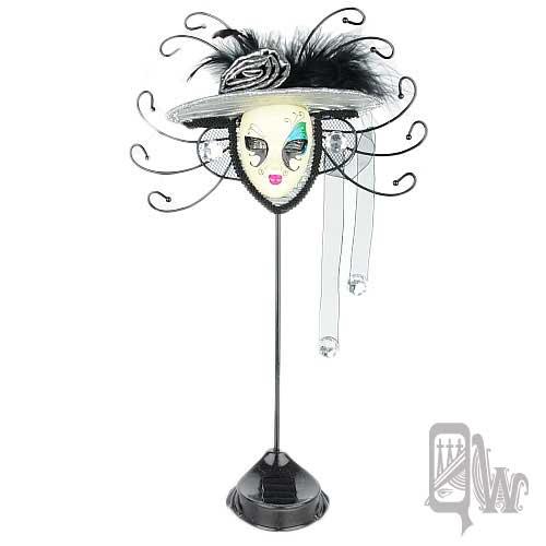 【Barocco Nuts】[飾品架]水鑽 玫瑰帽 面具-藍綠 眼影 鴛鴦蝴蝶夢(首飾架/戒指架/項鍊架/耳環架/飾品架/吊飾架)