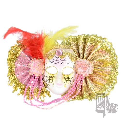 【Barocco Nuts】[面具]派對系列:對稱粉紅扇 小面具飾品 洋娃娃公主(舞會/嘉年華/歌劇魅影/party/化裝舞會/化妝舞會)