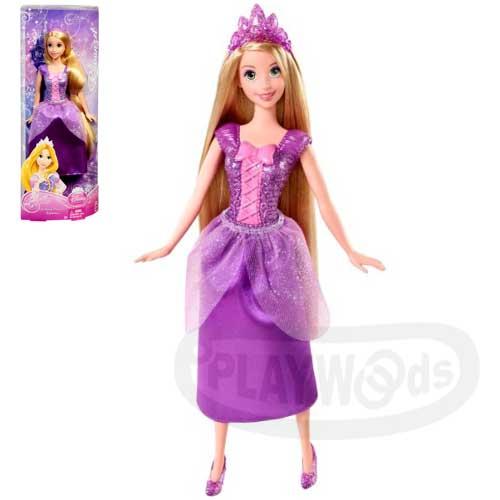 【Playwoods】[迪士尼公主]新版閃耀公主系列:長髮公主樂佩Rapunzel(魔髮奇緣/DISNEY/angled/萵苣姑娘/美泰兒MATTEL/娃娃Doll/芭比/皇冠/項鍊/梳子/童話/故事)
