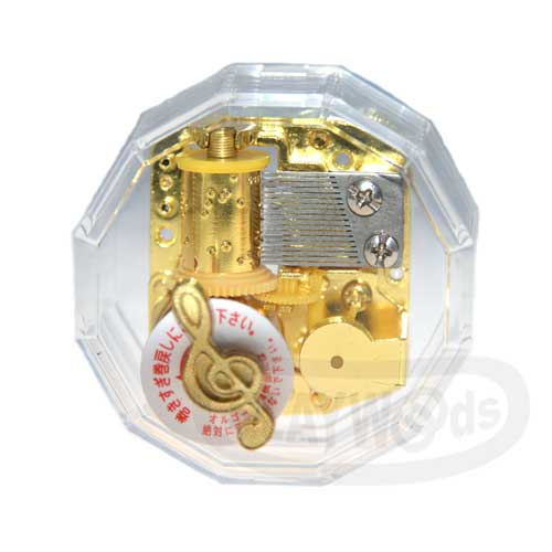 【Barocco Nuts】[音樂盒Music Box] 水晶透明 多邊形精緻音樂盒-鍍金機芯(多角度切割/八音盒/聖誕節/Xmas/禮物/送禮/情人節/七夕女友/婚禮)