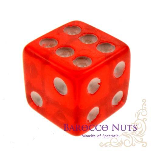 【Playwoods】[桌遊/博奕] 1.5CM紅色 正方形半透明骰子 (色子/骰盅/點數骰子/棋牌/麻將/桌遊/Bar/夜店/KTV/ token/指示物/裝飾品)