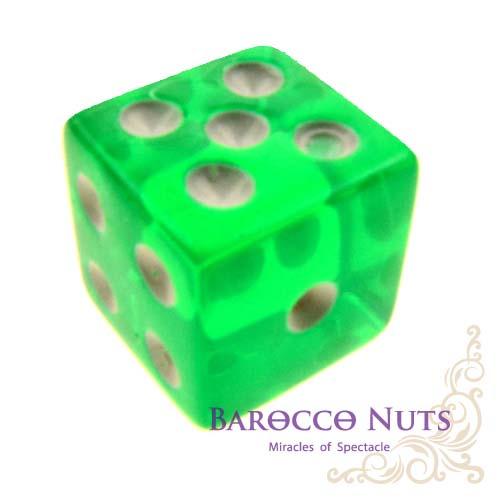 【Playwoods】[桌遊/博奕] 1.5CM綠色 正方形半透明骰子 (色子/骰盅/點數骰子/棋牌/麻將/桌遊/Bar/夜店/KTV/ token/指示物/裝飾品)