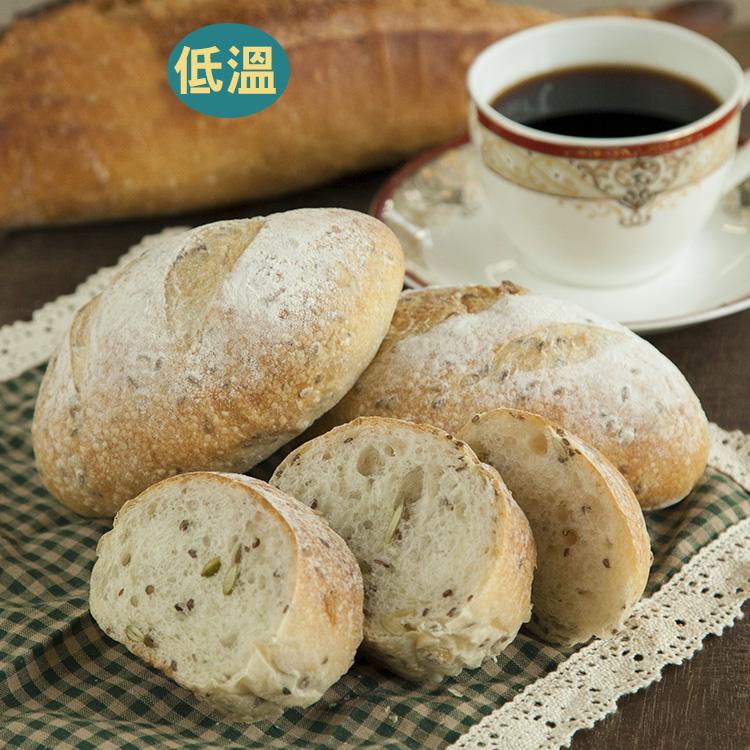 [蕃薯藤有機]有機南瓜子亞麻籽麵包/個(N-W/C)從烘焙坊到麵包食材,皆經過有機認證,絕對讓您吃得安心又美味!