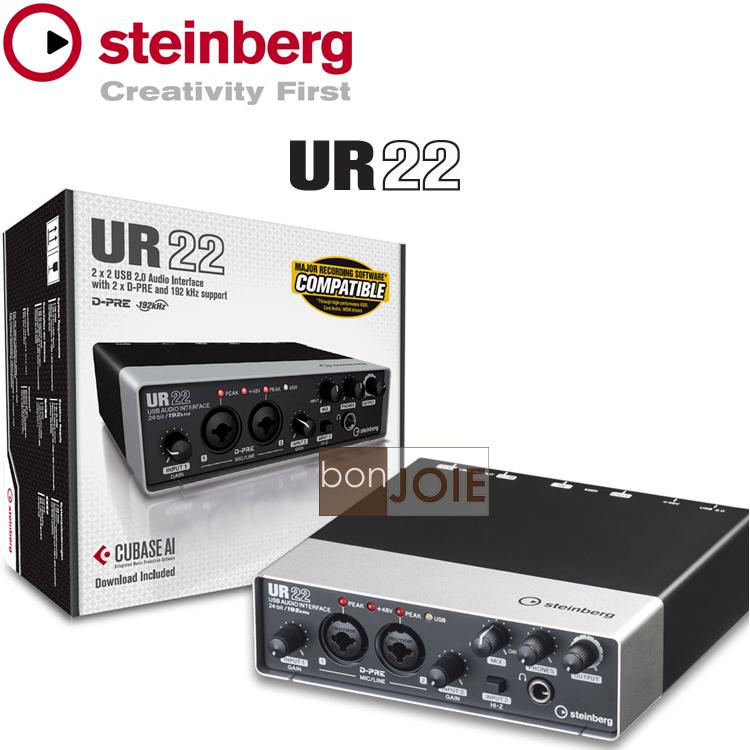 ::bonJOIE:: 美國進口 Steinberg UR22 USB 錄音介面 (全新盒裝) 2-Channel USB 2.0 Audio/MIDI Interface 錄音盒 錄音卡 YAMAHA