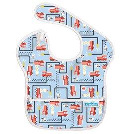 【淘氣寶寶】2016年最新 美國Bumkins防水兒童圍兜(一般無袖款6個月~2歲適用)-消防車 【保證公司貨】