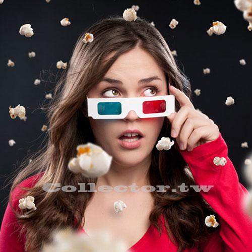 【A16051201】紙製紅藍3D眼鏡 白紙卡3D立體眼鏡 3D電影專用眼鏡