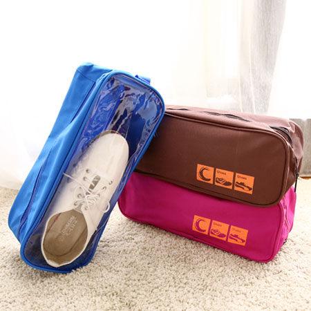 手提透明鞋袋 防水透氣 鞋包 透明鞋帶 便攜式 收納鞋袋 旅行鞋整理包【N100479】