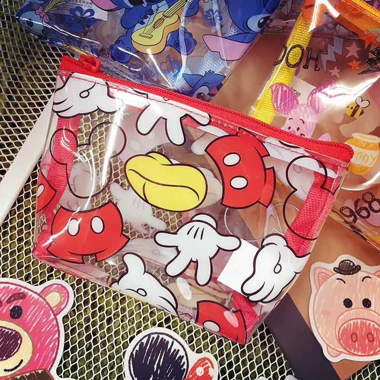 PGS7 迪士尼系列商品 - 迪士尼 透明 滿版 防水 零錢包 隨身 收納包 米奇 維尼 史迪奇 瑪莉貓 布魯托
