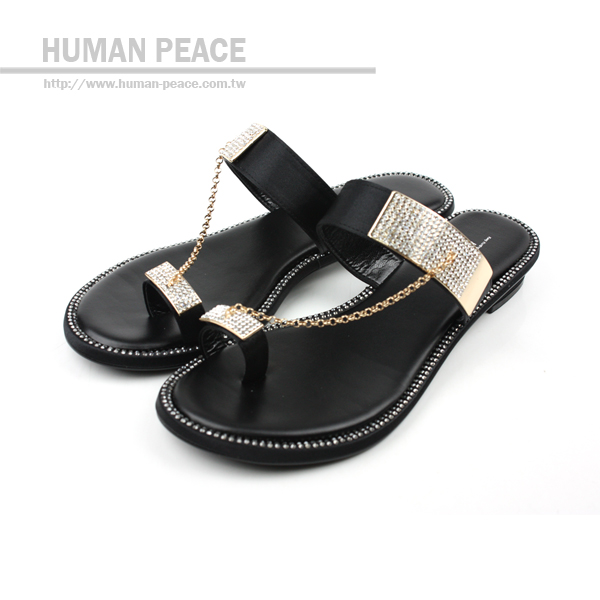 HUMAN PEACE 拖鞋 黑 女款 no008