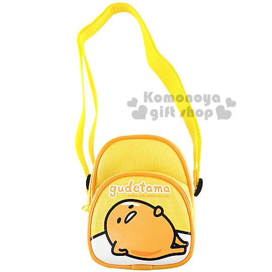 〔小禮堂〕蛋黃哥 兒童迷你斜背包《黃.躺姿》