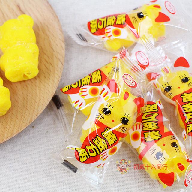 【0216零食會社】金瑞祥_黃金萬兩貓咪造型軟糖