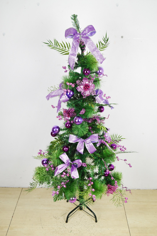 X射線【X454172】150cm裝飾聖誕樹(紫),聖誕樹/聖誕佈置/聖誕燈/會場佈置/材料包/成品樹/小樹