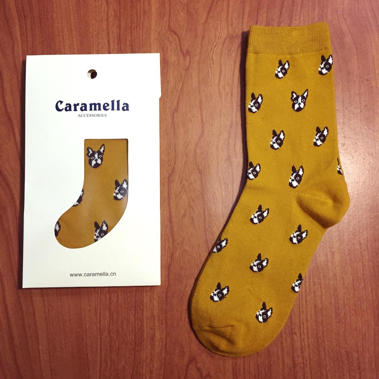 【開幕促銷】Caramella 法鬥 黃色 中筒襪 短襪 船襪 隱形襪 五指襪 文青情侶 運動穿搭 阿華有事嗎 C0004