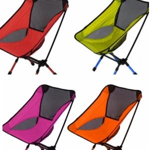 美麗大街【yy-003】戶外超輕便攜鋁合金折疊月亮椅 多功能釣魚凳夏季伸縮7075野營