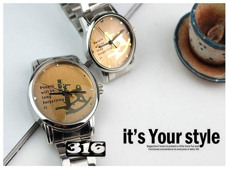 《316小舖》【PE70】(時尚情人對錶-男女對錶-單件價 /男女手錶/情人手錶/情侶手錶/情侶對錶/男性手錶/女性手錶/生日禮物)只剩女款