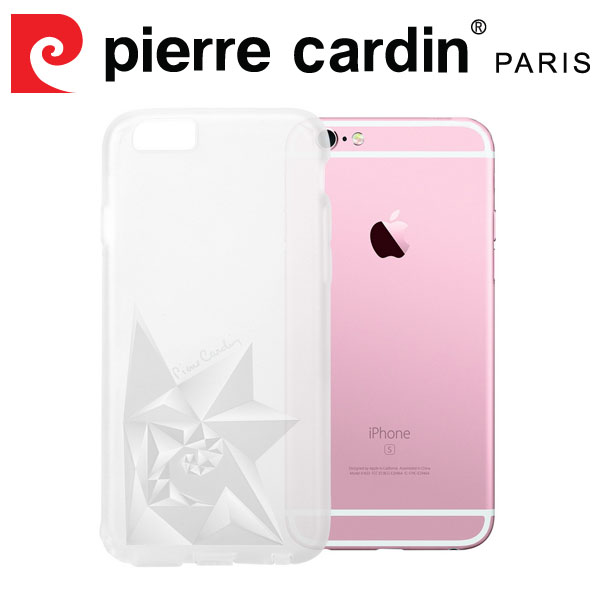 [ iPhone6/6s ] Pierre Cardin法國皮爾卡登3D立體玫瑰TPU透明手機殼 透明色