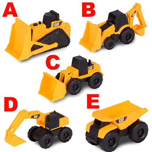 CAT 2吋混裝迷你工程車/ 共5款可選/ CAT Mini Machine Single Pack/ 挖土車/推土機/砂石車/伯寶行
