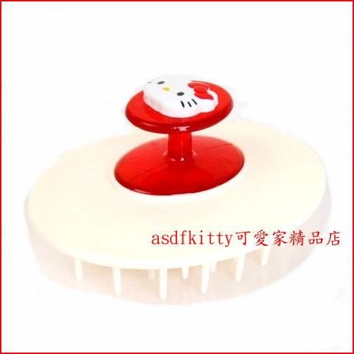 asdfkitty可愛家☆KITTY紅柄洗髮梳/梳子/按摩梳-洗頭用,也可當一般的梳子-梳齒深好用-日本正版商品