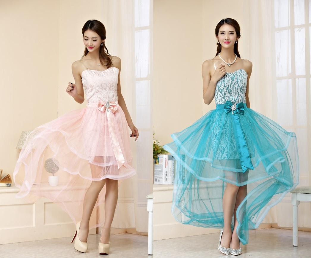 天使嫁衣【J2K9853】2色中大尺碼蕾絲包臀可拆紗裙前短後長禮服-預購
