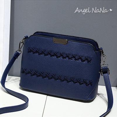 斜背包。AngelNaNa 韓版 編織 女側背包 小包包【B167】