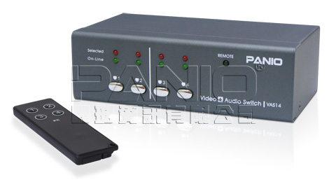 *╯新風尚潮流╭*PANIO 4主機1VGA螢幕顯示端 視訊+聲音電子切換器長距離型 VAS14