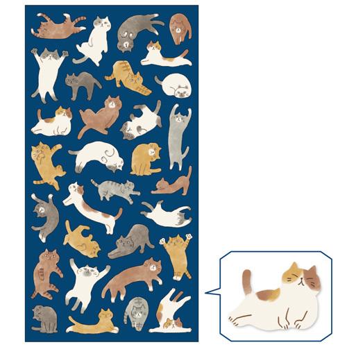 *小徑文化*日本進口 MIND WAVE 系列貼紙 - 貓咪拼圖 ( 78280 )