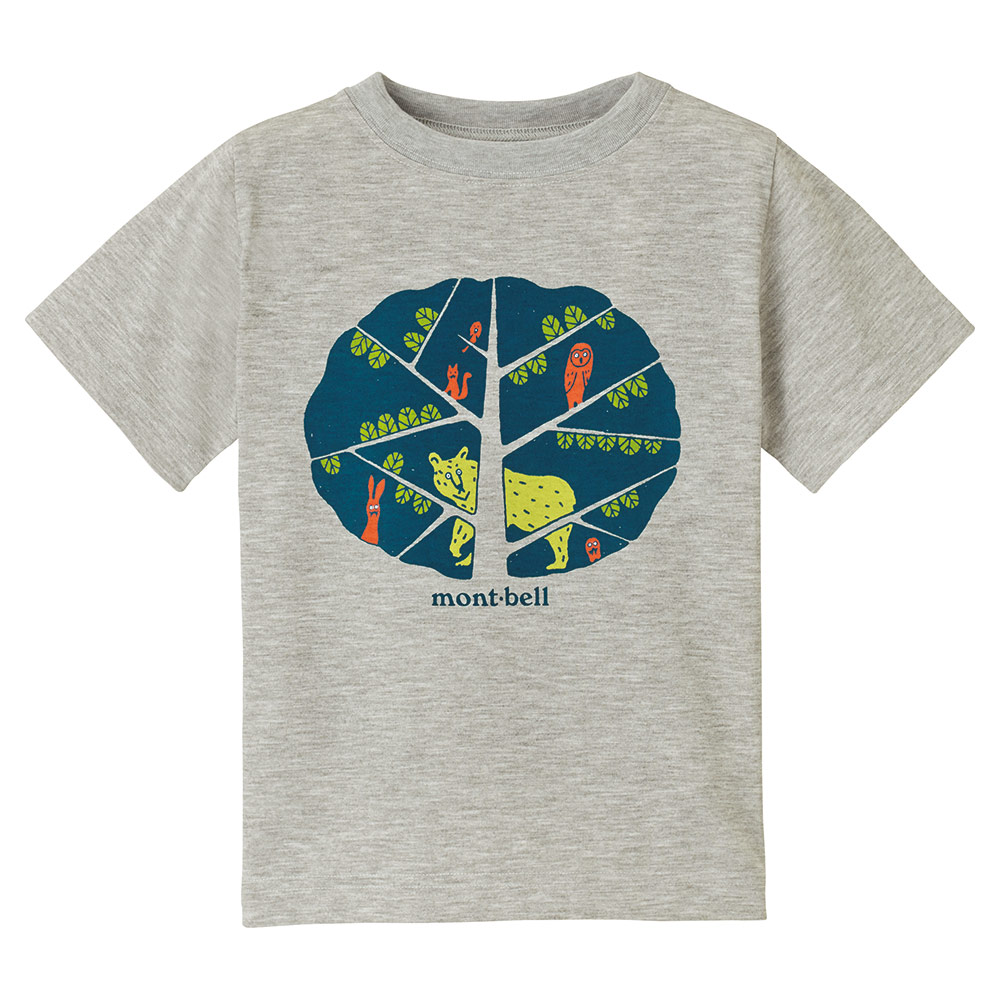 [ Mont-Bell ] 兒童排汗短T/幼童排汗衣 Wickron 1114256 HCH 麻灰