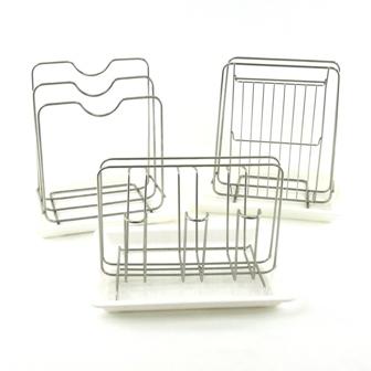 【珍昕】 精選廚具不鏽鋼收納架系列~3種款式(菜刀沾板架.鍋蓋架.杯架)/ 廚具瀝水架