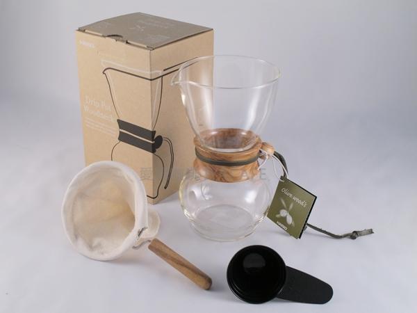 《愛鴨咖啡》HARIO DPW-1-OV 橄欖木 法蘭絨 濾布含支架 手沖壺 1-2杯份 贈更換濾布3片