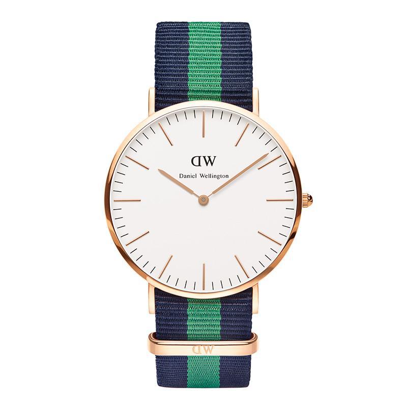 美國百分百【Daniel Wellington】DW Warwick 手錶 男 女 腕錶 尼龍錶帶 深藍 綠 F944