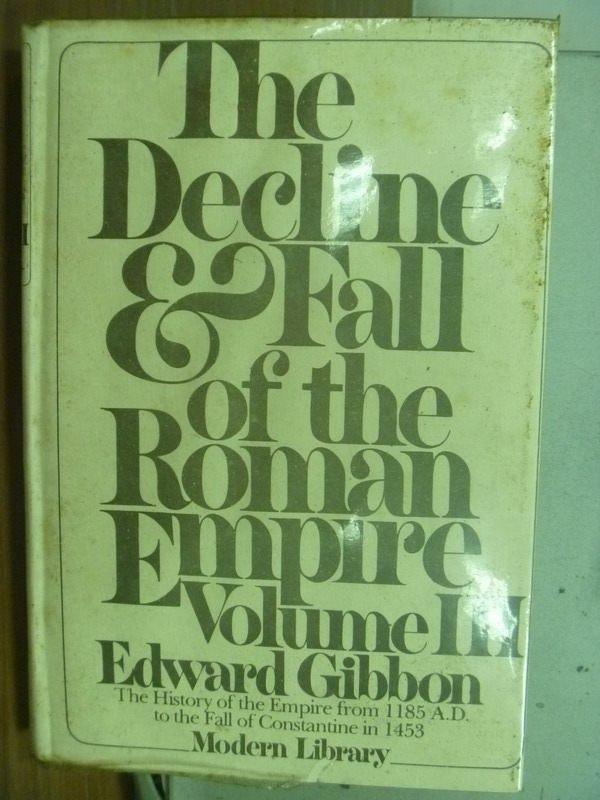 【書寶二手書T9/歷史_ICA】The Decline fall of the roman empire Vo.III