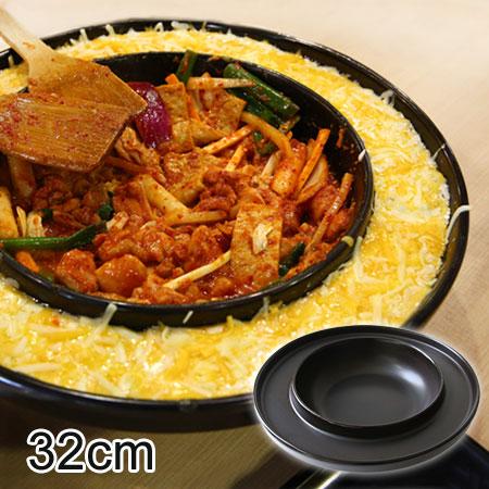 韓國 陶瓷雙圓烤盤 32cm 陶烤盤 部隊鍋 春川炒雞 韓式烤肉 燒肉 烤盤【N101391】